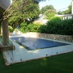 Residential Swimming Pool with glass fence